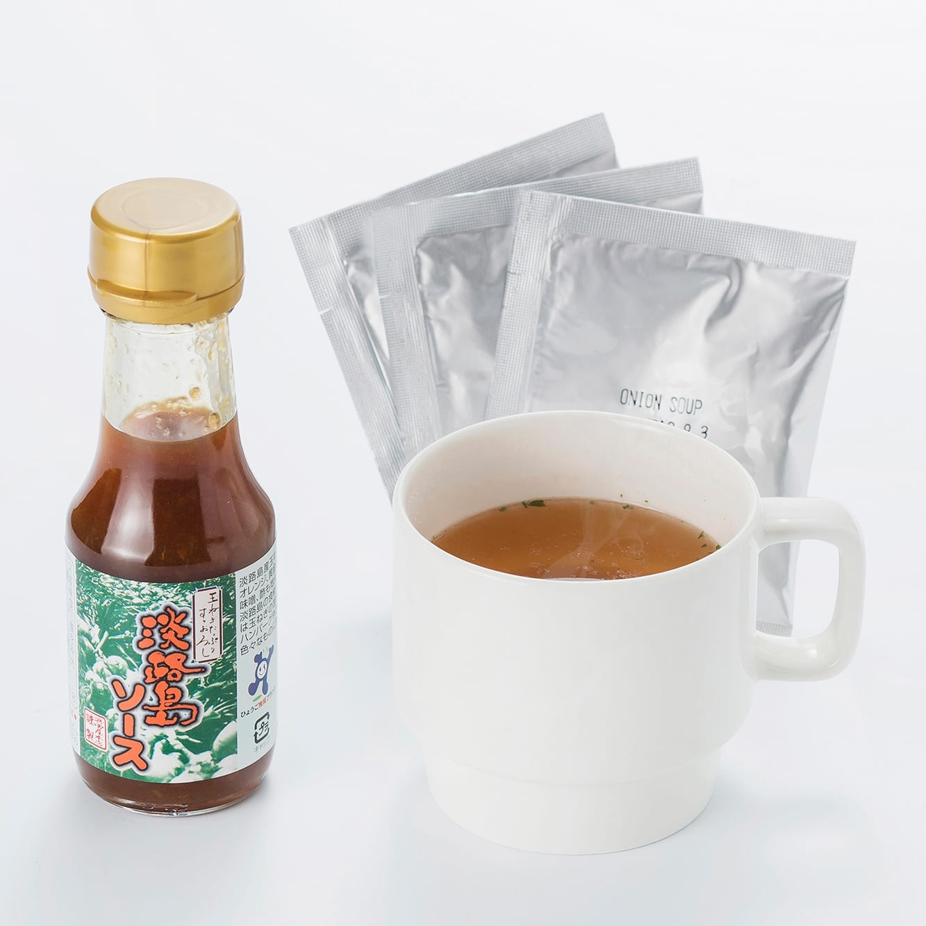 Awaji Island Sauce (95ml bottle) + 3 onion soup packets