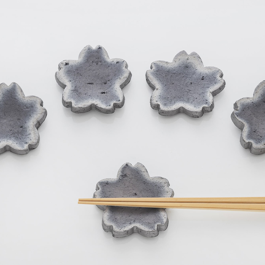 Tile Chopstick Rests from Awaji Island (5 Pieces)